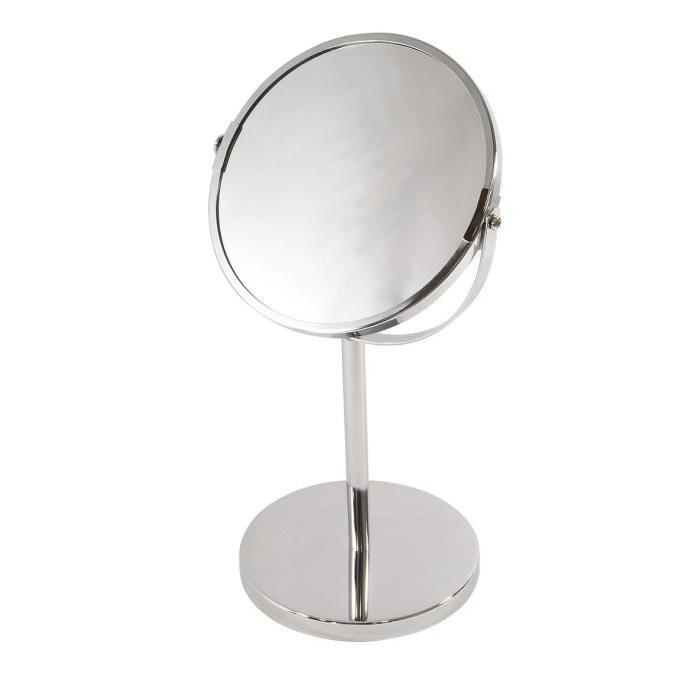 FRANDIS Miroir double face a poser en métal et chrome