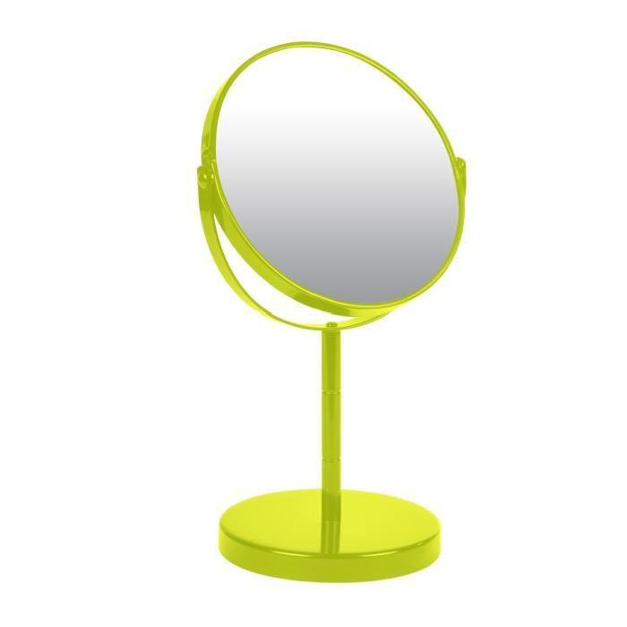 Miroir sur pied grossissant x1/x2 métal Vert anis