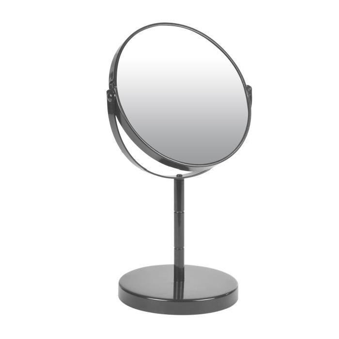 Miroir sur pied grossissant x1/x2 métal Anthracite