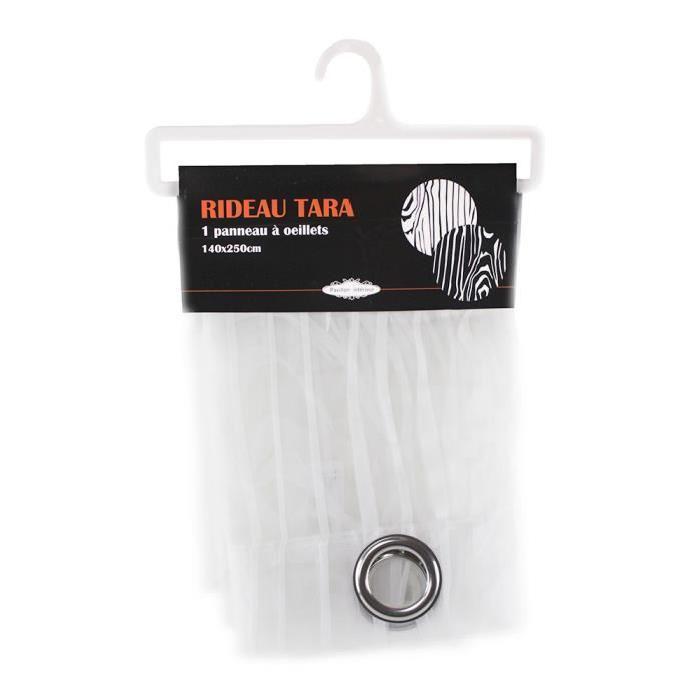 PAVILLON D'INTERIEUR Rideau avec 1 panneau a oeillets Tara 140x250 cm blanc