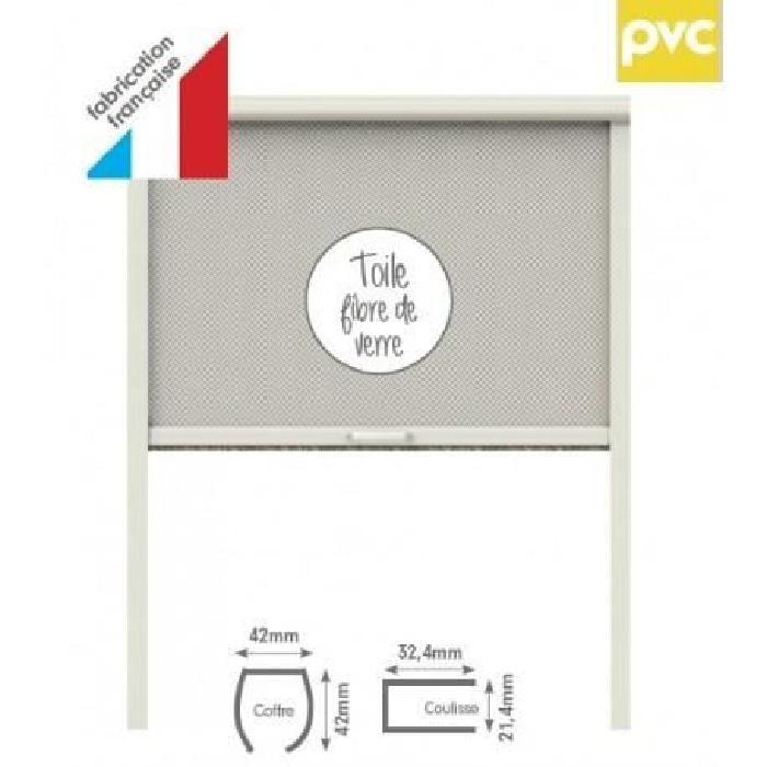 Store moustiquaire PVC pour fenetre L80 x H100 cm blanc - MOUSTIKIT