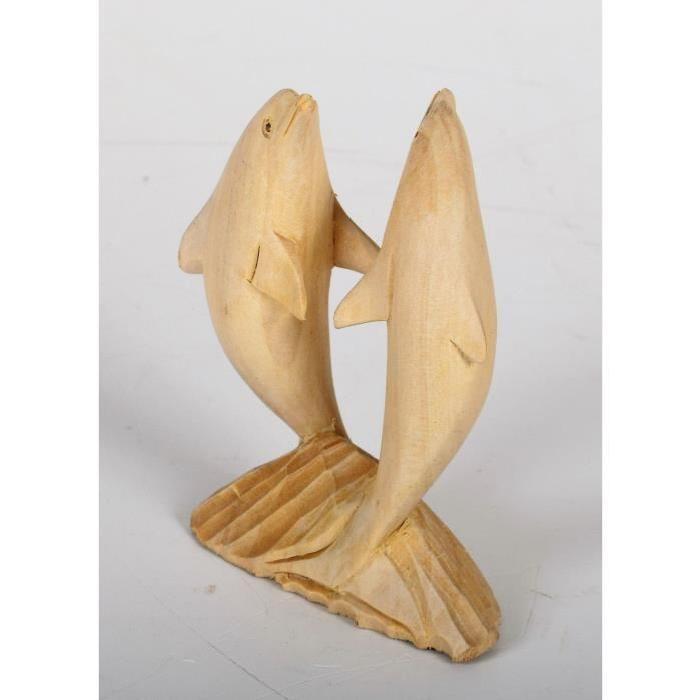 DOLPHIN Objet déco a poser Dauphin bois sculpté