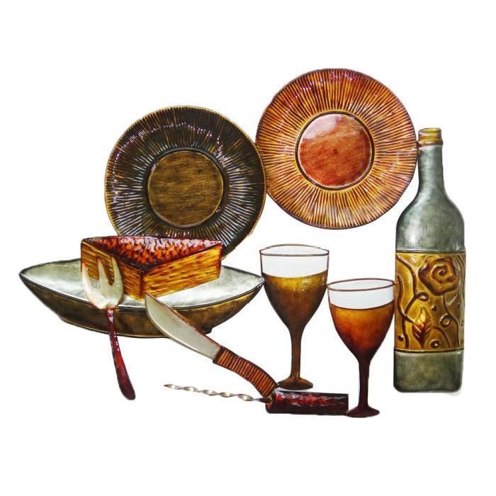 Décoration murale Gastronomique - Métal - L55,5 x H 43 cm