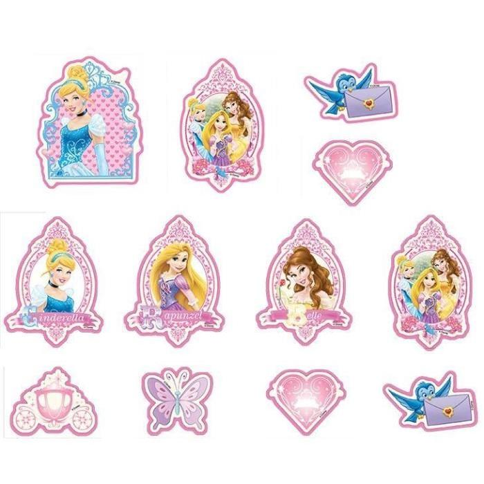 PRINCESSE Lot de 24 éléments mousse 7,8x9,1 cm - 14,7x11,7 cm