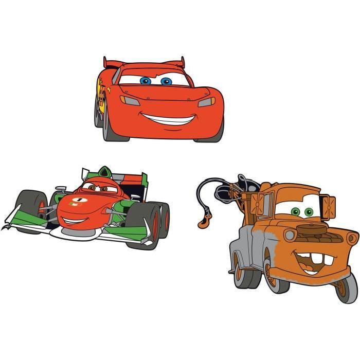 CARS 2 Lot de 3 éléments mousse 30x30 cm