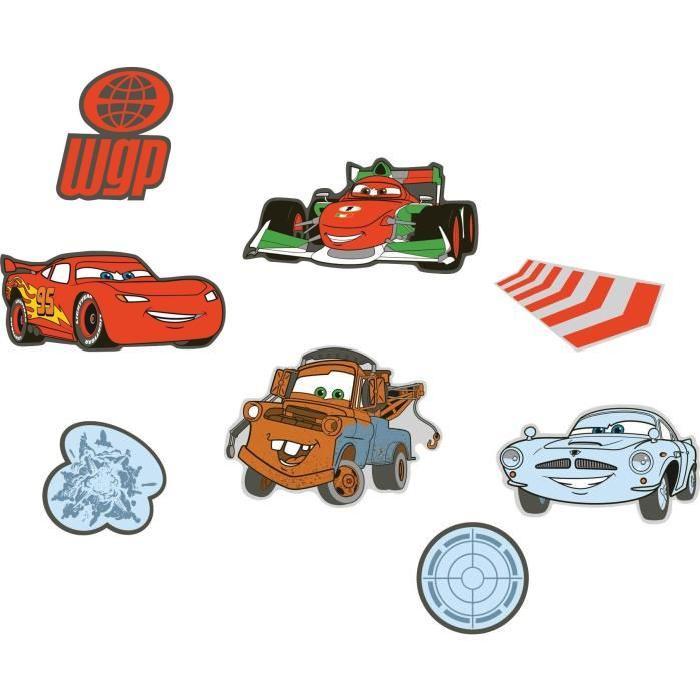 CARS 2 Lot de 24 éléments mousse 7,8x9,1 cm - 14,7x11,7 cm