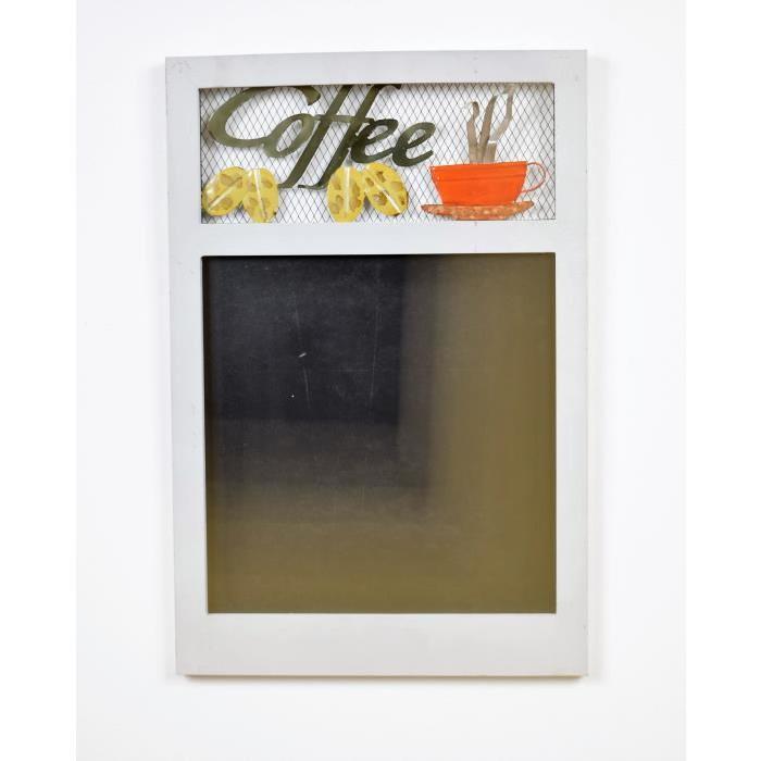 Décoration murale Memo Coffee - L 67 x H 39 cm