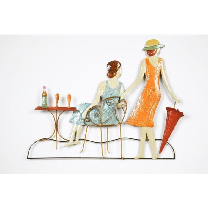 Décoration murale Femmes Terrasse - L 61 x P 2,5 x H 48 cm