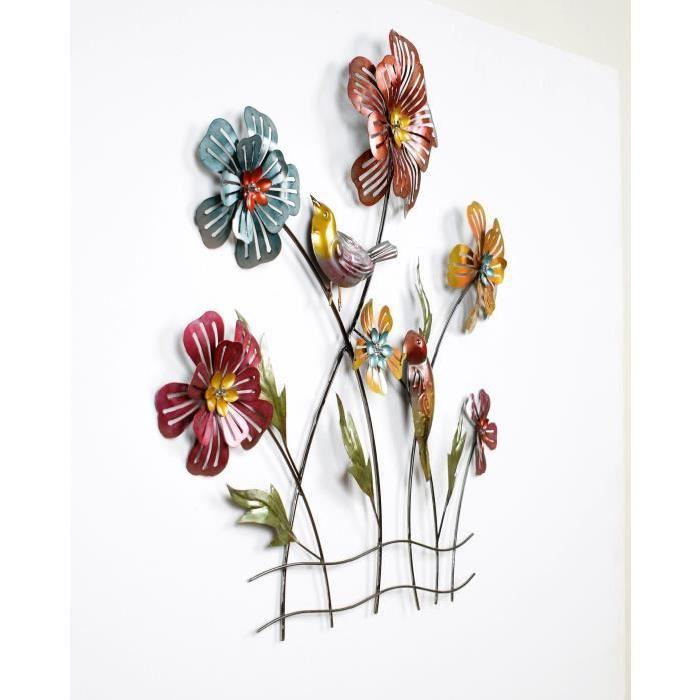 Décoration murale Grandes Fleurs -L 66,5 x P 3 x H 61,5 cm