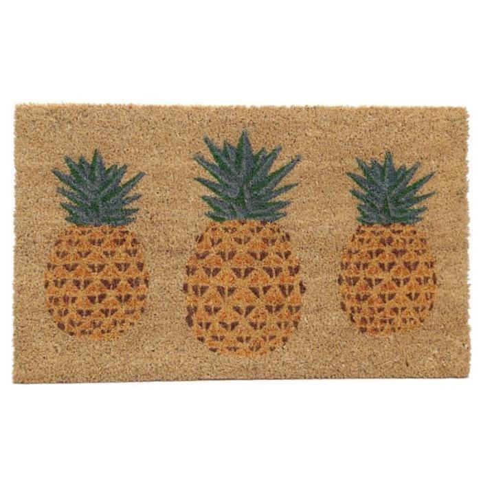 Paillasson Ananas - Fibre de coco - 26x76x2cm