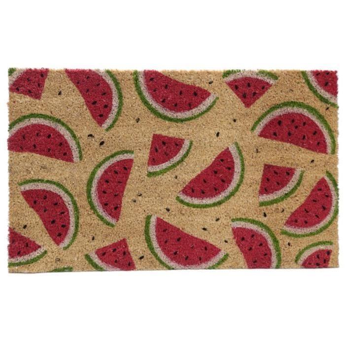 Paillasson Pasteque - Fibre de coco - 26x76x2cm