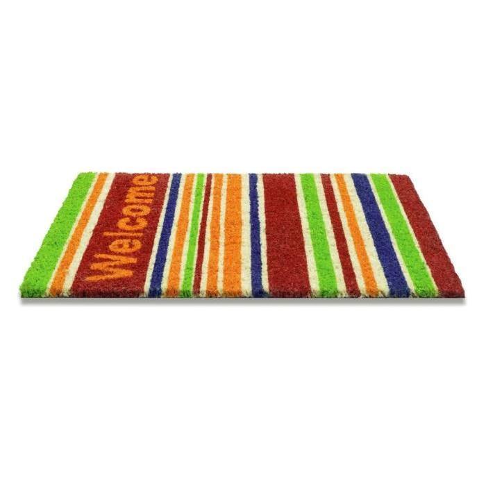Paillasson a motifs - 40x60 cm - Style Moderne - Coloris naturel