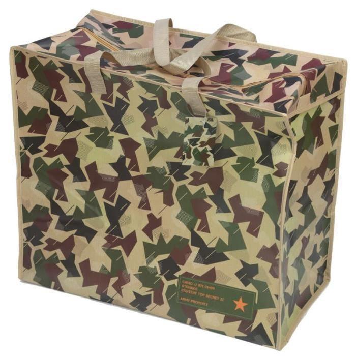Panier a linge - Camouflage -  51x58x35cm