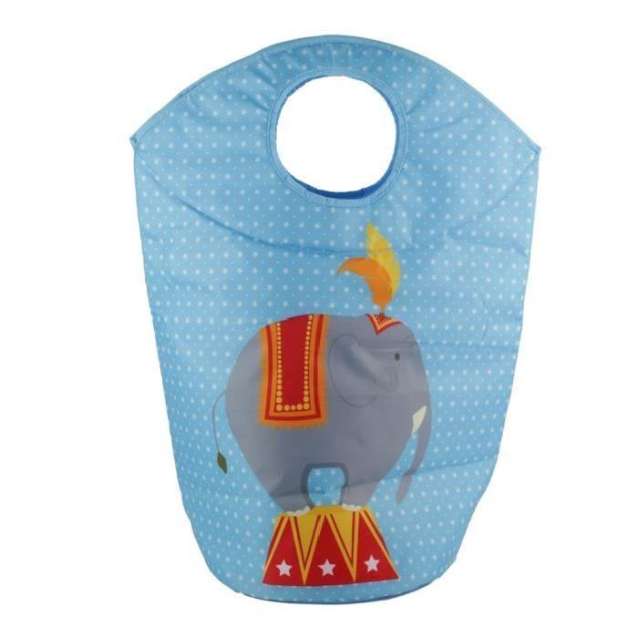 Panier a jouets Cirque - 70 X 57 cm - Elephants