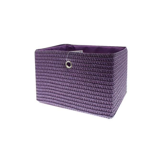 FRANDIS Panier de rangement 33x26x23 cm Violet