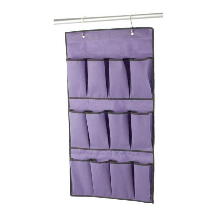 BAGGY Pochette a accrocher 12 poches 48x26 cm violet