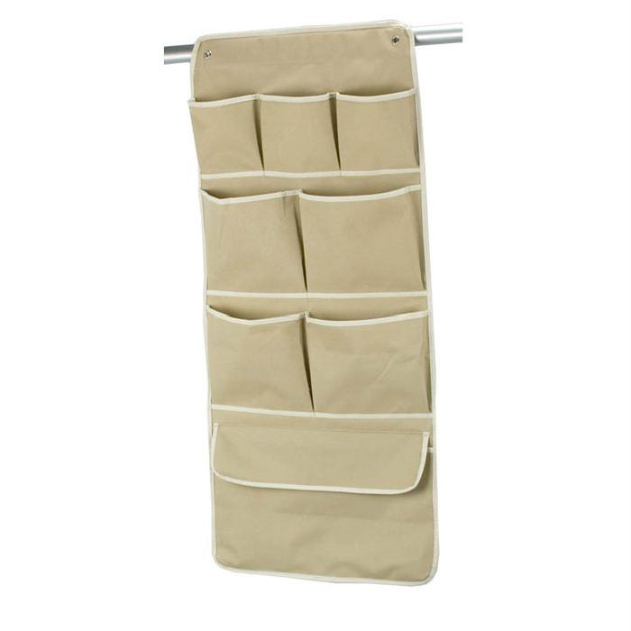 BAGGY Pochettes a accrocher vertical 8 poches 42x26 cm beige