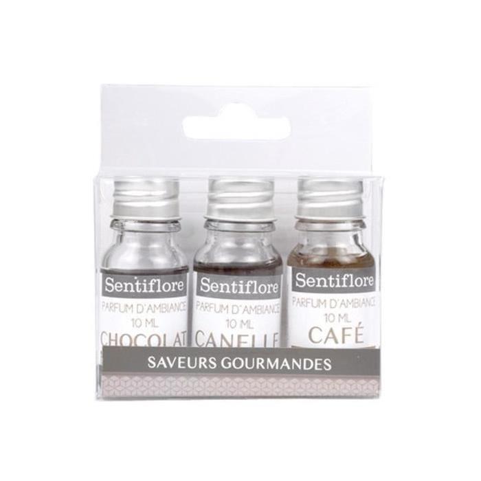 Set 3 parfums d'ambiance brun