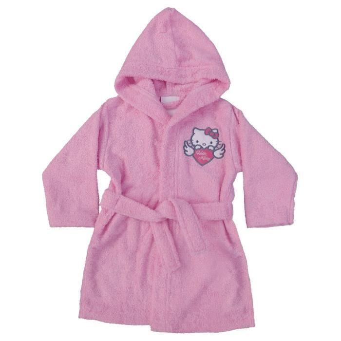 HELLO KITTY Peignoir a Capuche Wings - Rose - 6/8 ans