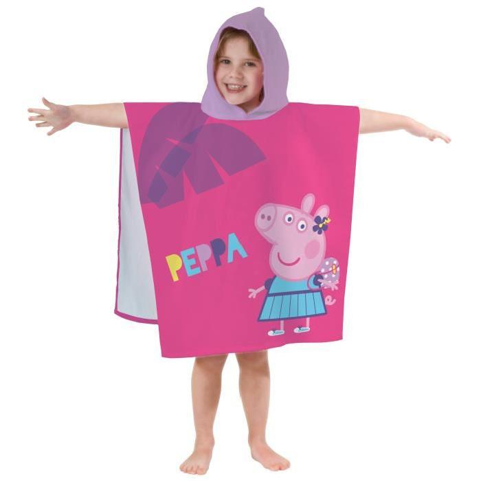 PEPPA PIG HOLIDAY Cape de bain Coton 60x120cm
