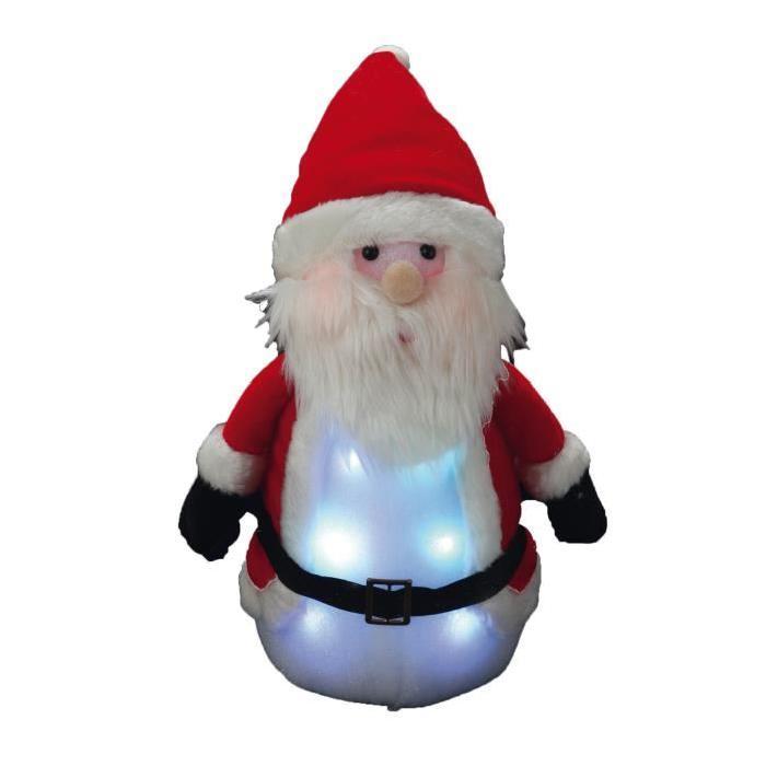 Personnage de Noël Pere Noël lumineux rouge 33x16cm