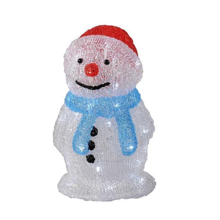 Figurine de Noël Silhouette Bonhomme de neige lumineuse Noël 35 cm