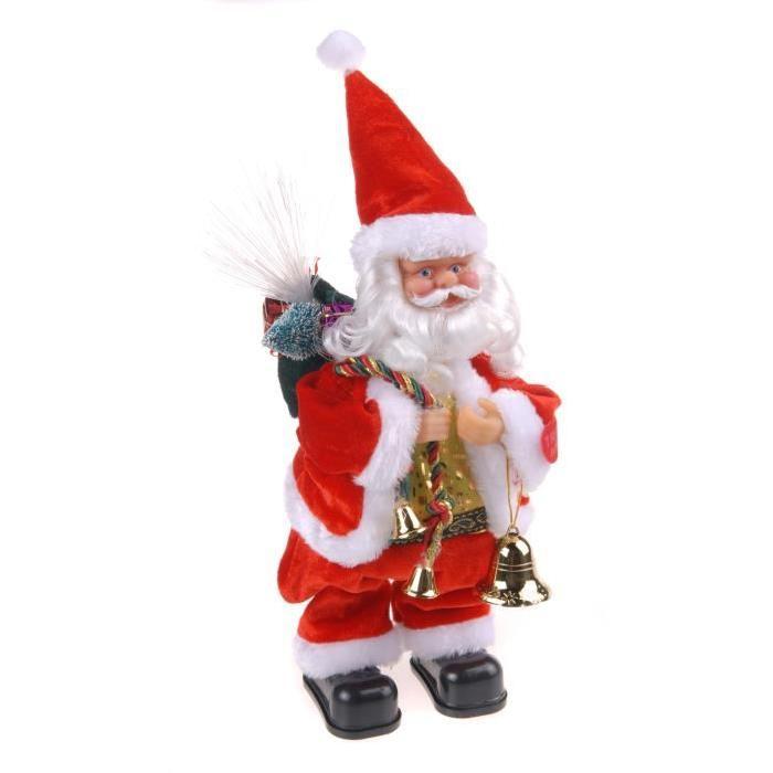 Personnage de Noël Pere Noël Swingueur a piles 28cm
