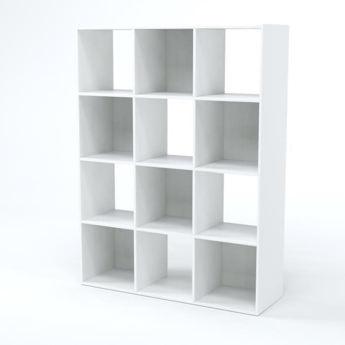 COMPO Meuble de rangement étagere blanc - Contemporain - L 92 cm