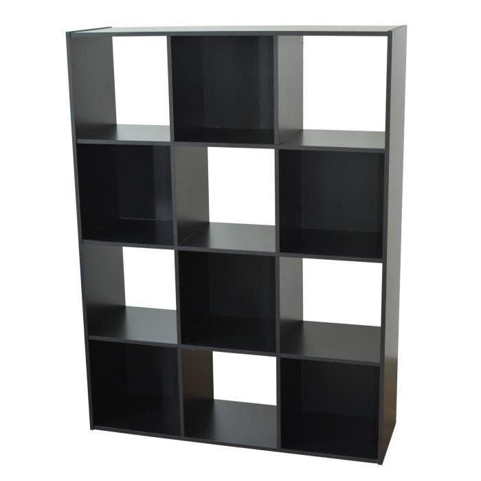 COMPO Meuble de rangement vertical recouvert de papier décor noir - L 92 cm