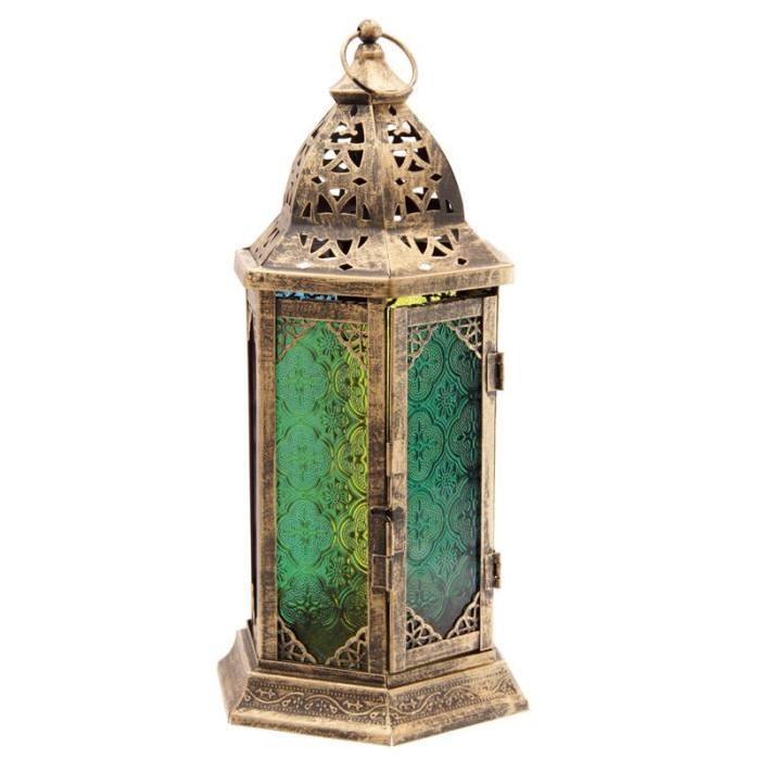 Lanterne marocaine a poser -  37x15x17cm