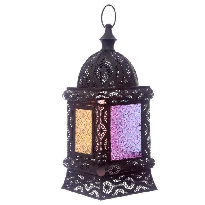 Lanterne marocaine -  37x16x16cm - Noir