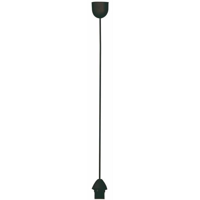 COREP Cordon électrique 80 cm E27 100 W noir
