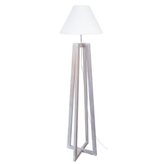 TOSEL Pied lampadaire - Bois de aulne