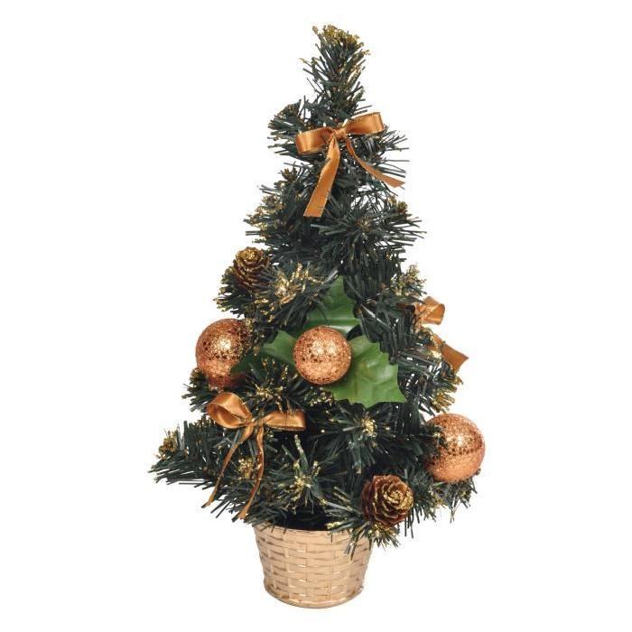 Sapin de Noël Artificiel lumineux Doré 30 cm