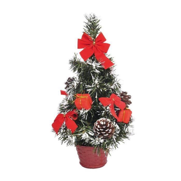 Sapin de Noël Artificiel lumineux Rouge 30 cm