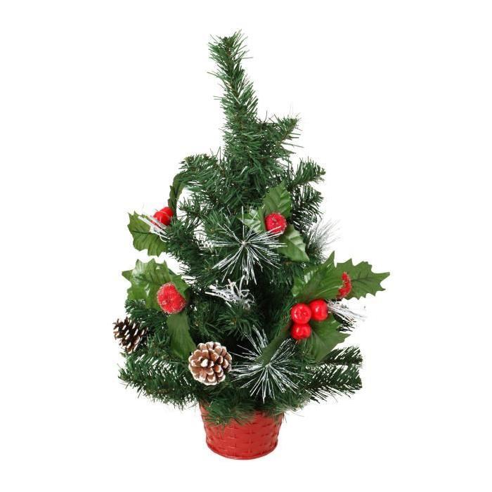 Sapin de Noël avec pomme Rouges 50 cm