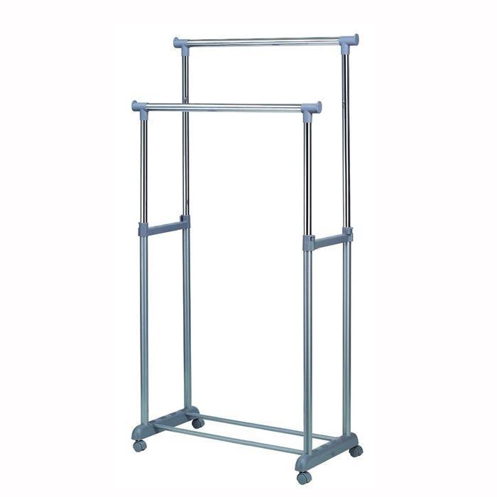 Portant Structure PVC support métallique chromé