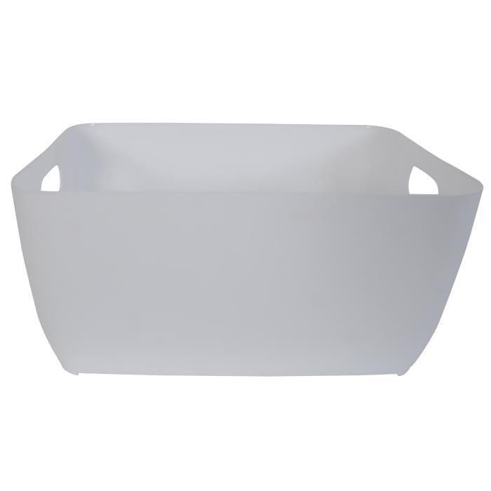 STORE Panier de rangement 13x28x21cm Blanc