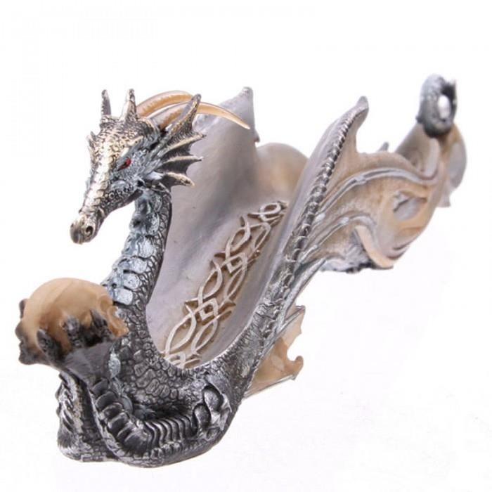 Porte encens Dragon miroitant - 31 cm
