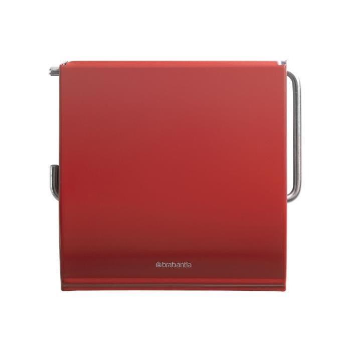BRABANTIA Porte-Rouleau papier hygiénique Rouge