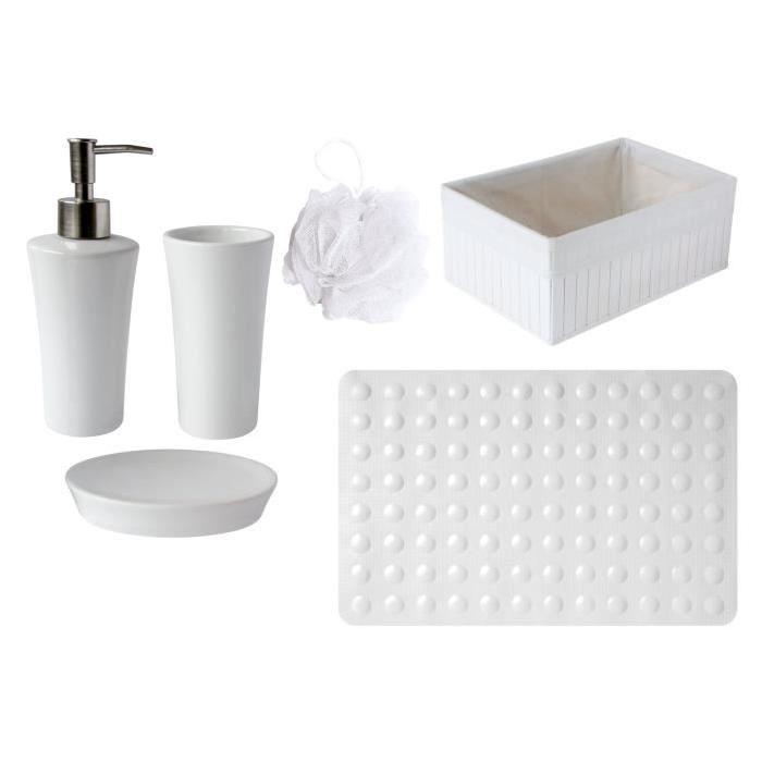 GELCO Lot TAD + Fleur de douche Trendy blanc
