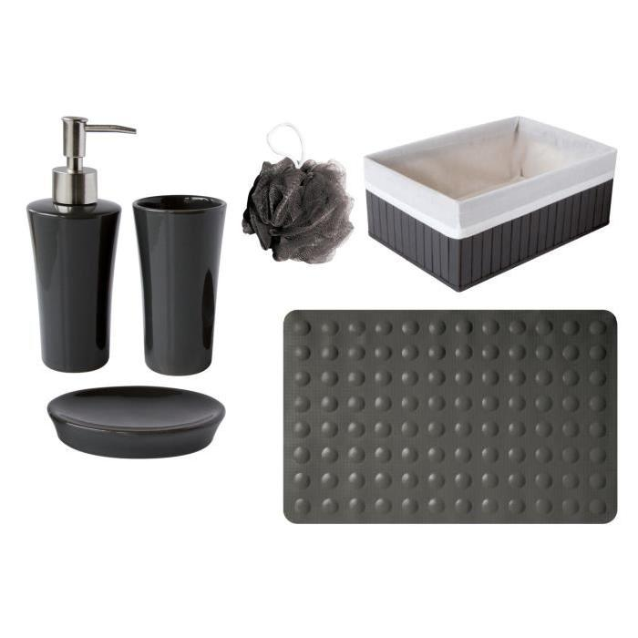 GELCO Lot TAD + Fleur de douche Trendy carbone
