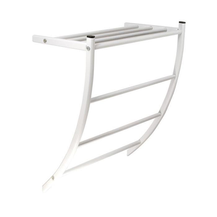 FRANDIS Etagere d'hôte GM en métal blanc pour porte-serviettes