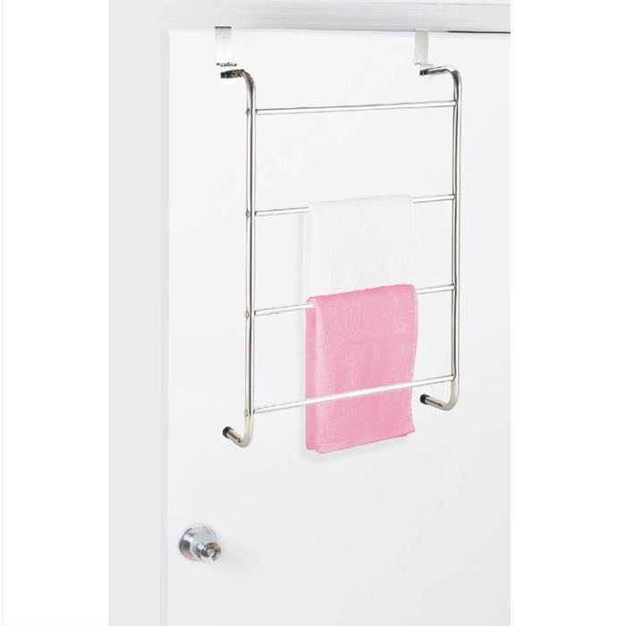 FRANDIS Porte serviette de porte 4 niveaux en métal
