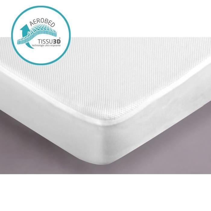 CANDIDO PENALBA Protege matelas Aerobed 3D 90x190 cm blanc