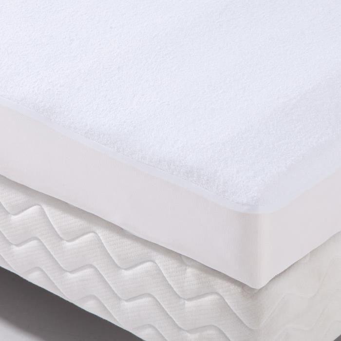Alese forme housse imperméable Transalese éponge 100% coton - 90 x 200 cm - Blanc