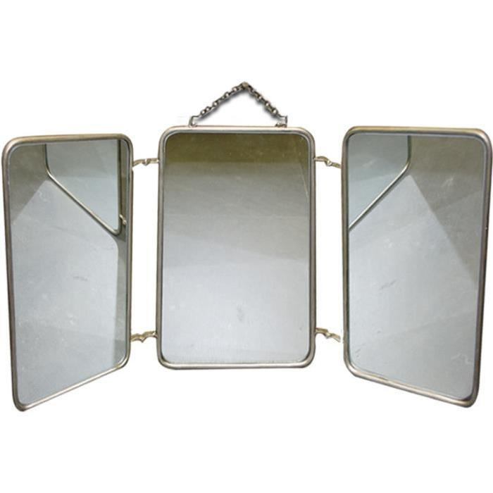 Miroir de barbier Vintage 60x32 cm beige