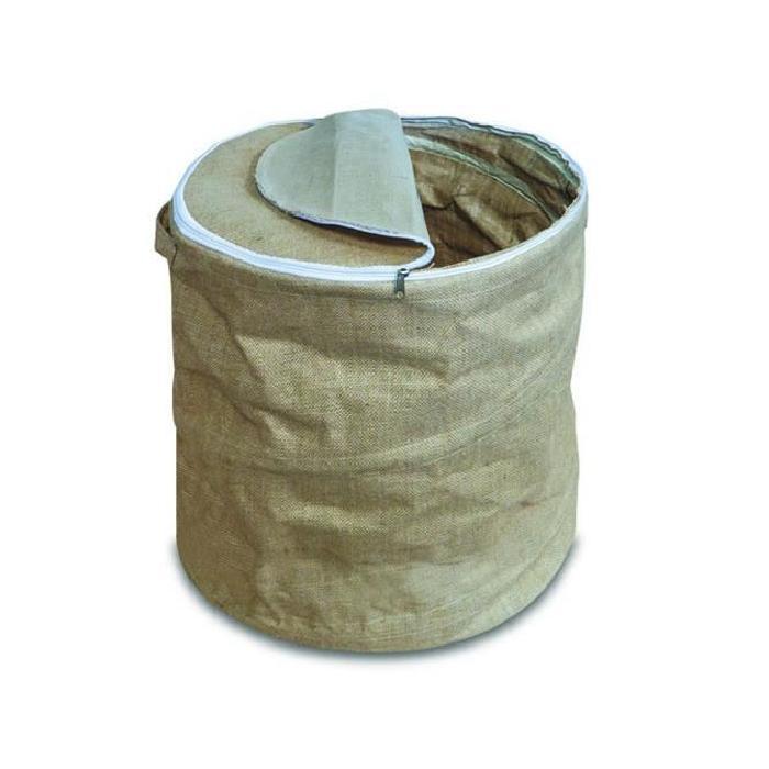DELTA Sac a pellets Spirale en toile de jute beige