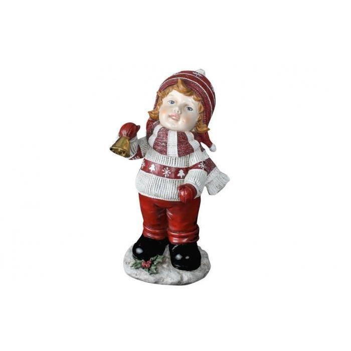Personnage de Noël : Petit garçon en résine 20x19x36 cm