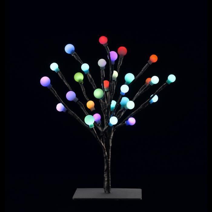 Bonzai lumineux caméléon H30 cm Multicolore